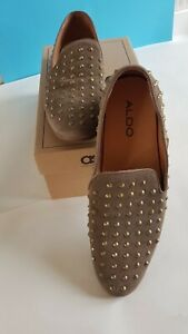 MENS ASOS TAN SUEDE STUDDED SHOES SIZE 10