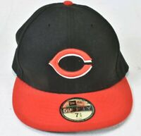CINCINNATI REDS New Era 5950 Cap MLB Baseball Fitted Hat 59Fifty Sz 7 3/4