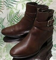 BORN BROWN LEATHER FASHION ANKLE BOOTS BUSINESS DRESS SHOES US WOMENS SZ 6 M