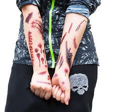 Tattoos Narben Wunden Horror Ritzen Halloween - 40 realistisch Aussehende Motive