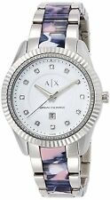 Armani Exchange Women's AX5438 Silver Dial Two-Tone Bracelet Watch