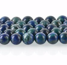 10mm AZURITE MALACHITE ROUND Gemstone Beads,blue green, full strand, gmx0025