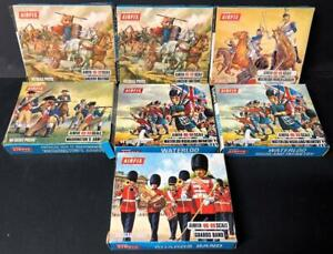 LOT of 7 AIRFIX SCALE PIECES BLUE BOXES HO OO WATERLOO GUARDS BRITONS WASHINGTON