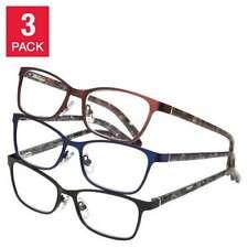 Foster Grant Women's Rectangular Reading Glasses - Reporter(Amber colour 3-Pack)