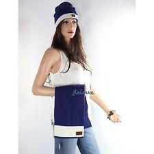 NWT Coach SET Men's Knit Muffler Scarf F98702 Beanie Hat F80707 Blue Ivory RARE