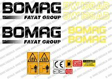 BOMAG BW 138 AD VIBRATING ROLLER DECALS STICKERS