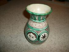 Vintage Domingo Punter Spanish Art Pottery Hand Painted Vase (R.5) 19cm Height