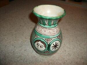 Vintage Domingo Punter Spanish Art Pottery Hand Painted Vase (R.5) 19cm Height