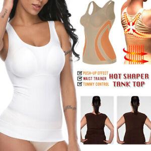 Women's Seamless Compression Body Shaper Tank Top Slimming Vest Corset Shapewear