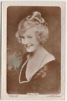 Vintage JEWEL CARMEN Silent Actress Embossed photograph postcard 1920 Colourised