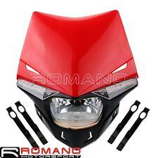 Dual Sport Bike Headlight Kit Fairing LED Turn Signal Light Dirt Bike Universal