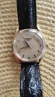 BEAUTIFUL!!! Longines watch gold plated 40 microns 1957-8 with leather bracelet