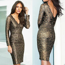 Lace Cocktail V Neck Stretch, Bodycon Dresses for Women