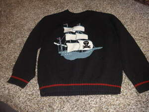 GYMBOREE BOYS S 5-6 PIRATE SHIP SWEATER