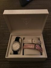 womens watch, Guess, Black/white/pink bands, new/never worn