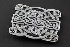 RETTANGOLARE CELTIC KNOT con dettaglio Angolo Metallo Cintura Fibbia gaelico scozzese