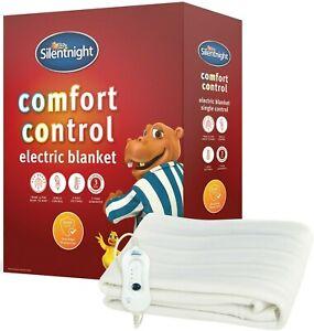 Silentnight Electric Blanket Heated Winter Warming Single Double King