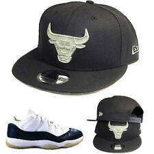 New Era Chicago Bulls Navy Snapback Hat Match Air Jordan 11 Navy SnakeSkin Cap