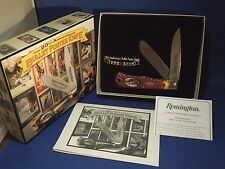 Remington 20th Anniversary Bullet Poster 2 Blade Folding Knife W/ Box & COA