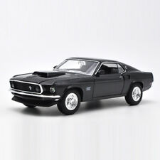 1:24 1969 Vintage Ford Mustang Boss 429 Model Car Metal Diecast Collection Black