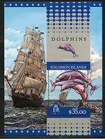 SOLOMON ISLANDS 2016 DOLPHINS  SOUVENIR SHEET MINT NH