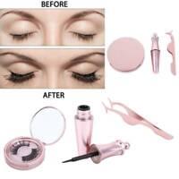 3D Magnetic False Eyelashes Natural Eye Lashes Extension Liquid Eyeliner Tweezer