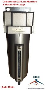 "3/4"" Compressed Air InLine Moisture Water Filter Trap F706 Compressor Auto Drain"