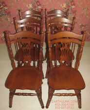 Tell City Set of 6 Rockport Side Chairs Maple 7076 Paxton 47 Finish