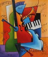Modern Art Handmade Music Abstract Oil Painting On Canvas Wall Art Home Decor