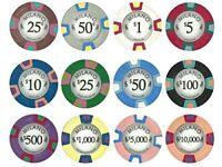 Claysmith Gaming Milano 10g Poker Chips, Real Casino Clay Sample Pack