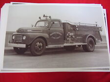 1948 ? FORD FIRETRUCK SEASIDE HEIGHTS NEW JERSEY    11 X 17  PHOTO   PICTURE
