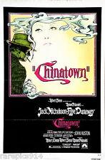 Chinatown  Jack Nicholson Vintage Original Rare TriFold 1Sheet Movie Poster 1974