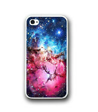 Blue Pink Mint Nebula Galaxy Rubber Silicone PHONE Case for iPhone X 8 7 6S SE 5