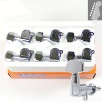 Schaller M6 L180 Mini Buttons Tuners/machine heads, 6inline Chrome, 10010220