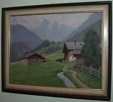 Josef Ferdinand BENESCH (1875-1954) Häuser im Gebirgstal.