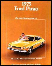 1975 Ford Pinto Original Sales Brochure