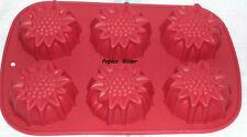 Silikon Muffinform  Blüte  Backform  6er  Minikuchen