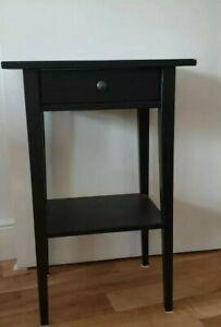 Ikea Black Hemnes Bedside Table/ Drawer