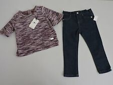 7 For All Mankind 24 Months Jeans Sweater Set Outfit Pants Lilac Purple NWT Gift