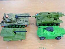 4 x lesney tanks (k-102,k-107,70 sp gun,73 weasel)