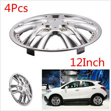 "4Pcs Car Chrome Wheel Rim Skin Cover Hubcaps Wheel Cover For Car 12"" Steel Wheel"