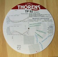 Thorens TP 92 Custom Designed Tonearm Cartridge Stylus Alignment Protractor