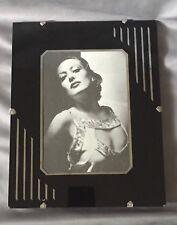 "Vintage Art Deco 2-Color Reverse Painted Glass Movie Star Picture Frame 8"" x 10"""
