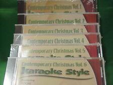 Contemporary Christmas #1, 2, 3, 4, 5 & 6 ~ Daywind Christian Karaoke Style CD+G