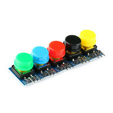 10pcs Round Cap Tactile Momentary Push Button Switches Red Black Green Blue