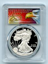 2012 W $1 Proof American Silver Eagle 1oz PCGS PR69DCAM Thomas Cleveland Eagle