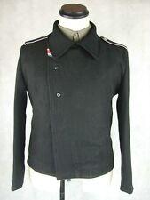 WWII German Elite Black Wool Panzer Wrap Tunic Jacket