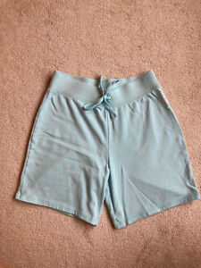 Justice girls Activewear shorts, light blue, size 18-20, bermuda length