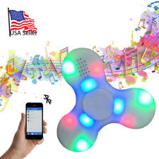 Bluetooth Speaker LED Lights Fidget Spinner Stress relieve AUTISM Color: White