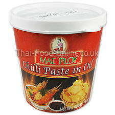 Authentic Thai Chilli / Chili Paste in oil (400g) by Mae Ploy - UK Seller